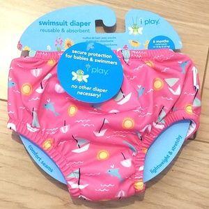 6 months Girls i play swimsuit reusable diaper